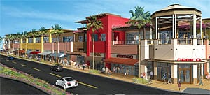 The redeveloped El Paseo Village will include retail stores, restaurants, and office space.