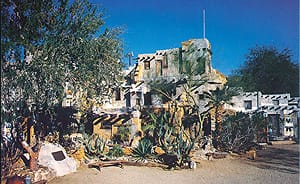 Cabot's Pueblo Museum, a Riverside County point of historic interest.