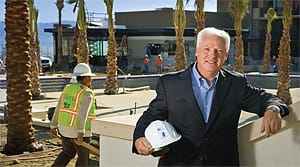 Brad Jencks, General Manager of The Ritz-Carlton, Rancho Mirage, surveys construction at the soon to open luxury resort.