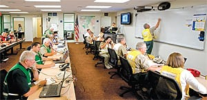 A 6,000-square-foot Emergency Operations Center was built in the basement of the city's recent city hall expansion, providing resources for emergency managers during times of crisis.
