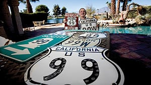 Bruce Clark has a collection of over 700 postcards and signs from Route 99.