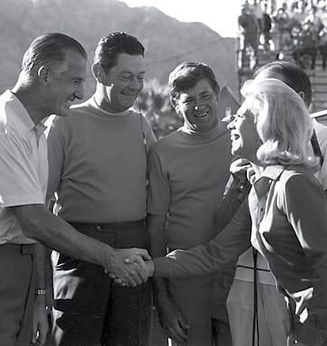 Vice President Spiro Agnew meets Dinah Shore, 1970