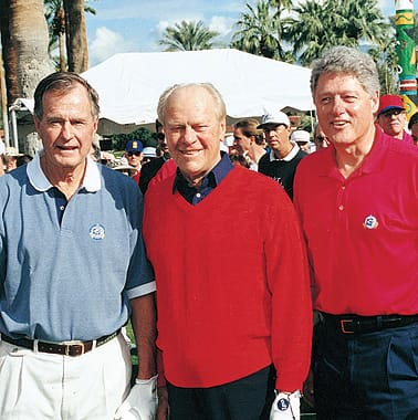 Presidents George H.W. Bush, Gerald Ford, and Bill Clinton, 1995