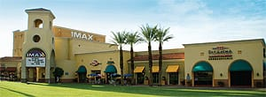 The Desert IMAX Theatre is a leading attraction for locals and visitors, flanked by destination favorites, Big Mama's Soul Food and Picanha Churrascaria.