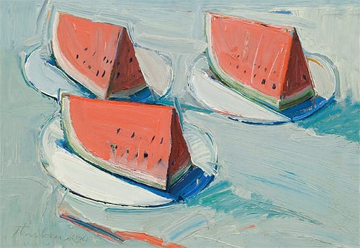 Watermelon Slices (1961), oil on canvas, Private Collection/ Courtesy Palm Springs Art Museum
