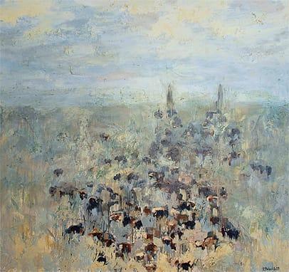Elklund Roundup #9, oil on canvas/ Courtesy J. Willott Gallery
