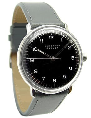 For Bauhaus protégé Max Bill, design was a balancing act between creativity and utility, austerity and luxury, philosophy and function. Bill's obsessions are writ large in the clean lines and elegant façade of his namesake watch. Still painstakingly produced by the original manufacturer, Junghans, the 1962 Max Bill Watch features a stainless-steel case, 21-jewel Swiss mechanical movement, and calfskin band. $598. Museum of Modern Art.