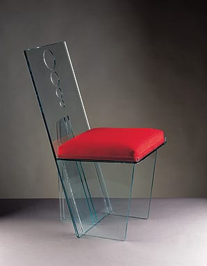 The Wisteria Chair, inspired by Tennessee Williams' The Glass Menagerie, designed in 1968.