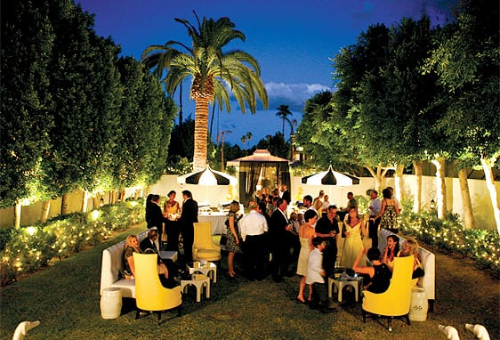 Modern weddings are a common sight at Viceroy Palm Springs tucked on a side street behind the downtown strip.