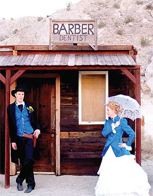 Host a period-style wedding at Desert Adventures, home of an 1800s mining camp.
