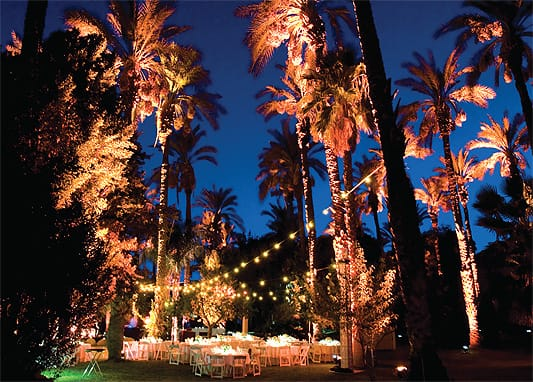 Tucked into a grove of palm trees, the Cree Estate offers natural beauty for up to 200 guests.