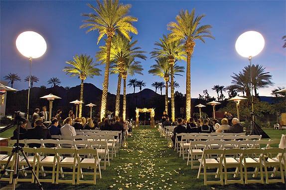 Renaissance Esmeralda Resort and Spa enchants wedding guests day and night.