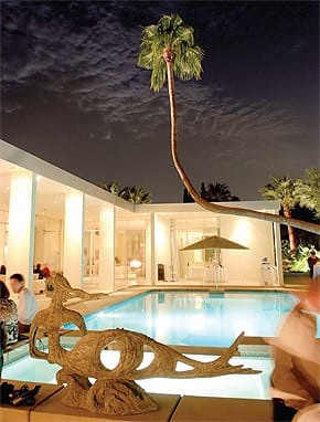 You don't need to own a place in the Palm Springs area to celebrate like you do. Estates like this one are available through local booking agencies.