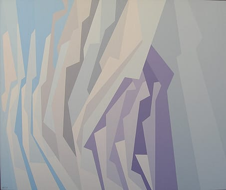 Blue Lavender, White (1959), oil on canvas, at Palm Springs Art Museum.