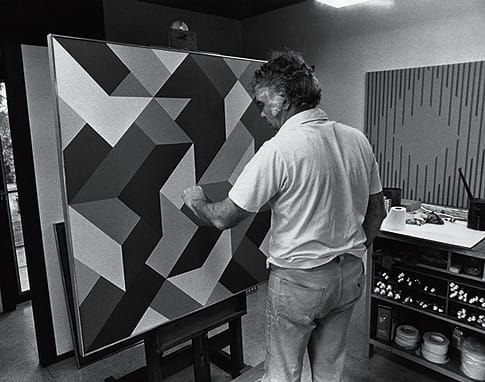 Karl Benjamin in his Claremont studio in 1978.