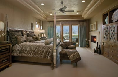 Master suites and baths feature marble and maple cabinetry and his and her walk-in closets.