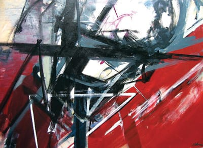 Mind Shaft (2006), oil on canvas, 60x48 inches