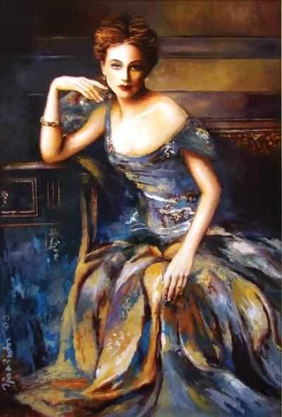 Life Is A Cabaret (2003), oil on canvas, 50x34 inches