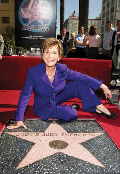 'Judge Judy' Sheindlin earned a star on the Hollywood Walk of Fame. She has recently spoken out in favor of gay marriage.