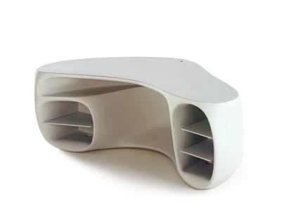 Philippe Starck's BaObab desk offers an unconventional blend of freshness and function. Seamless construction creates a microcosm of curves in a world of hard angles. $5,660. 