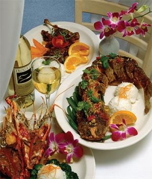 sample menus from palm springs area resstaurants palm srings california