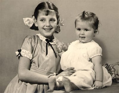 Dela and Elizabeth in 1953