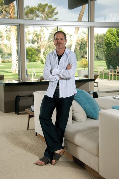 Richard Lewis' desert home overlooks the golf course at Tamarisk County Club in Rancho Mirage.