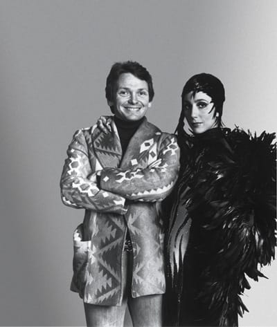 Bob Mackie and Cher