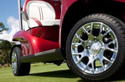 "10"" aluminum wheels, Design 1 - Gun Grey with diamond cut."