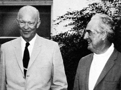 Waring and the Pennsylvanians were frequent guests at the White House during Eisenhower's tenure as President of the United States. Both are winter residents of the desert, Fred at Bermuda Dunes, Eisenhower at Eldorado Country Club.