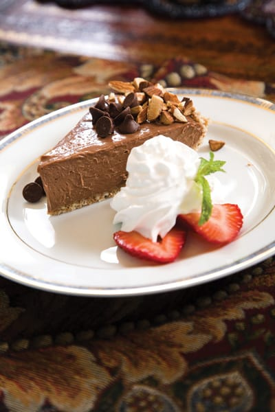 "For Petrovna's ""Chocolate Love Pie"" with tofu and agave, Plummer recommended a full-bodied pinot noir from Santa Barbara County or a cabernet franc ice wine from Canada."