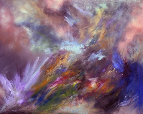 """""""Voyager,"""" abstract acrylic on canvas by Max von Wening. His work can be seen at von Wening Art in The Gardens on El Paseo in Palm Desert."""