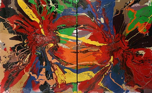 """One of artist Max von Wening's engaging abstracts called """"Double Vision."""" His work can be seen at von Wening Art in The Gardens on El Paseo in Palm Desert."""