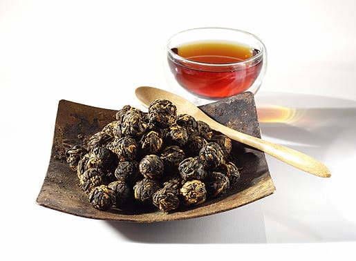 Black Dragon Pearl is a fragrant and rare hand-rolled black tea from the Yunnan province which unfurls to release a smooth-bodied taste with sweet, chocolaty, and malty undertones. A perfect morning and afternoon tea.