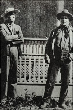 Pedro Chino (left) and Will Pablo, two of the many Indian friends of the McCallum family. Pablo was the guide who first introduced J.G. McCallum to Agua Caliente.