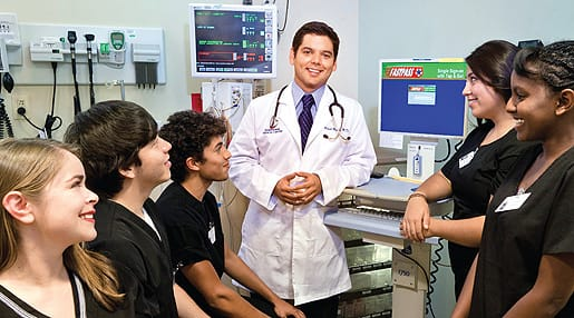 The recently initiated Eisenhower Medical Center program introduces local graduating high school students to various specialties within the medical field.
