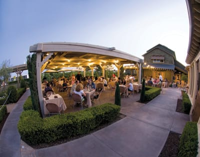 The alfresco Smokehouse Restaurant at Ponte Family Estate, which releases its fall menu on Oct. 22, relies primarily on local growers and suppliers that use sustainable practices.
