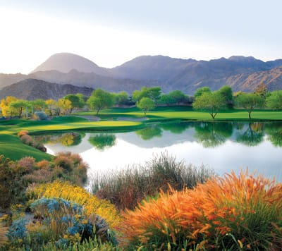 The 12th hole of the Desert Course offers exquisite views of the surrounding landscape.