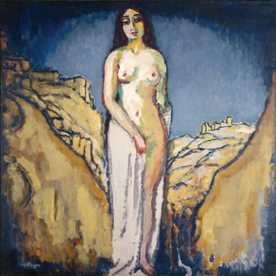 Kees van Dongen, Recuerdo de Toledo (1908), oil on canvas, 39.325 x 39.325 inches