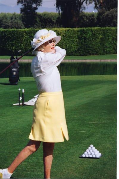 Leonore Annenberg Golfing
