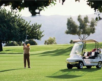 Walter Annenberg Golfing