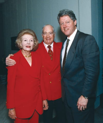 The Annenbergs with President Bill Clinton