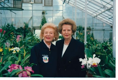 Leonore Annenberg and Margaret Thatcher