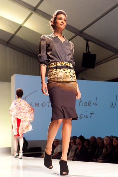 A Fashion Week sponsor and El Paseo boutique, InSanity presents its edgy and sophisticated clothes for the spring, as well as jewelry designed by Denise Roberge