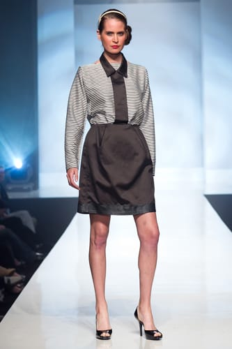 Her bachelor of architecture degree and five years of architectural experience is the inspiration for Airi Isoda's collection