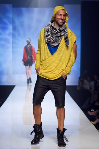 Ethan Bartlett, from Plano, Texas, has designed a fashion collection of upscale street wear for men and women