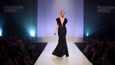 Michael Costello debuts his first collection since the eighth season finale of Project Runway