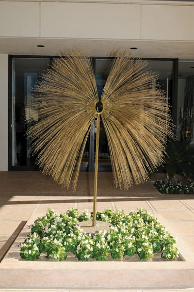 Peacock, n.d., by Harry Bertoia. Bronze with gold patina.