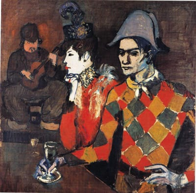 At the Lapin Agile, 1905, by Pablo Picasso. Oil on canvas. Metropolitan Museum of Art, The Walter H. and Leonore Annenberg Collection, Gift of Walter H. and Leonore Annenberg, 1992, Bequest of Walter H. Annenberg, 2002 (1992.391).