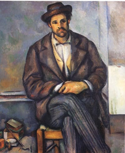 Seated Peasant, ca. 1892-96, by Paul Cézanne. Oil on canvas. The Metropolitan Museum of Art, The Walter H. and Leonore Annenberg Collection, Gift of Walter H. and Leonore Annenberg, 1997, Bequest of Walter H. Annenberg, 2002 (1997.60.2).